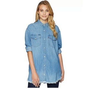New Levi's Naza oversized blue denim jean shirt